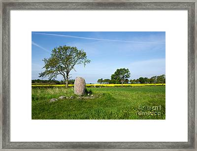 Framed Print featuring the photograph Viking Age Runic Stone by Kennerth and Birgitta Kullman