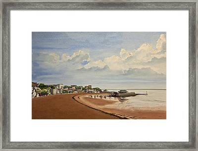 Viking Bay Broadstairs Kent Uk Framed Print by Martin Howard