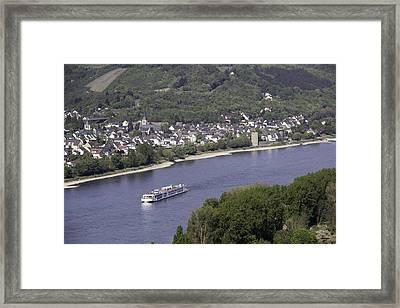 Viking Ingvi Cruising The Rhine In Braubach Framed Print