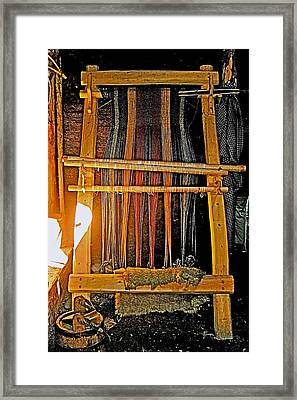 Viking Loom Replica At L'anse Aux Meadows-nl Framed Print by Ruth Hager