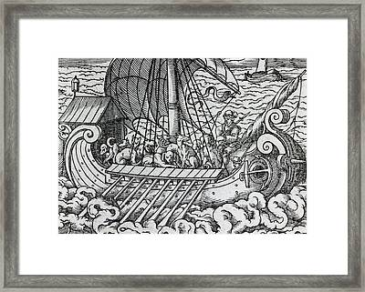 Viking Ship Framed Print