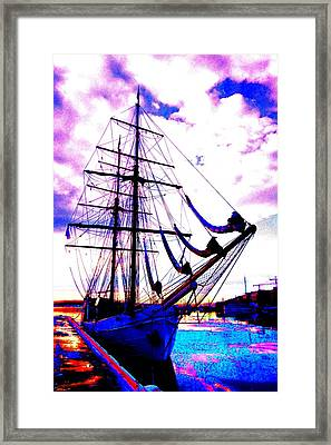 maybe you and I will go out sailing tomorrow  Framed Print by Hilde Widerberg