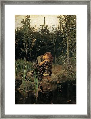 Viktor M Vasnetsov  Alenushka Framed Print