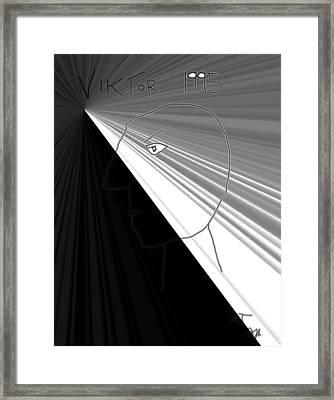 Framed Print featuring the photograph Viktor Rogy 1995 by Sir Josef - Social Critic - ART