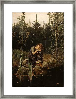 Viktor Vasnetsov  Alyonushka Framed Print