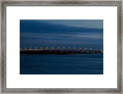 Framed Print featuring the photograph Vilano Bridge by Kathy Ponce