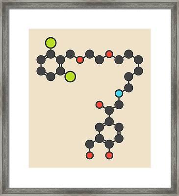 Vilanterol Copd Drug Molecule Framed Print