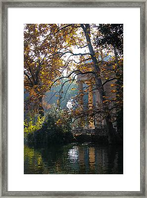 Framed Print featuring the photograph Villa Borghese Park by Glenn DiPaola