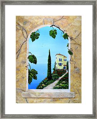 Villa By The Sea Framed Print