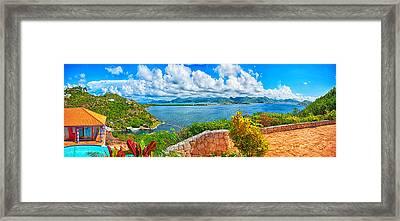 Villa Dauphin Lagoon St Martin Framed Print