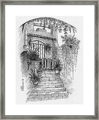 Villa Doorway Framed Print