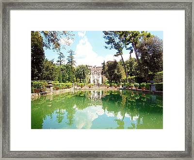 Villa Este Reflections Framed Print by Marilyn Dunlap