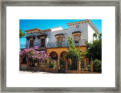 Villa In Ronda. Spain Framed Print