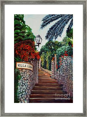 Villa Lidia Framed Print by Nancy Bradley