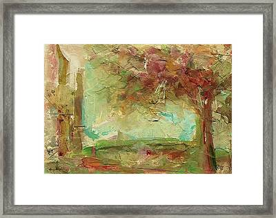 Framed Print featuring the painting Villa by Mary Wolf