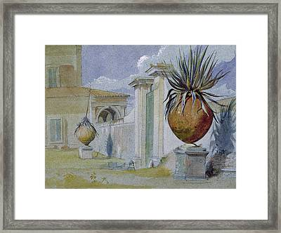 Villa Massimi, Rome Wc & Bodycolour On Paper Framed Print