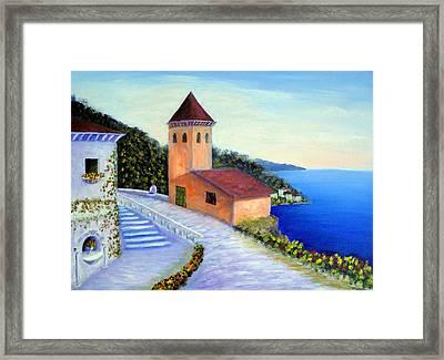 Villa Of Dreams Framed Print