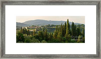 Village And Cypresses Framed Print by Francesco Emanuele Carucci