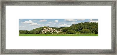Village At Hillside, Rochegude Framed Print by Panoramic Images