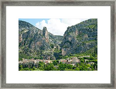 Village At Mountainside Framed Print by Panoramic Images