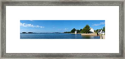 Village At The Waterfront, Gulf Of Framed Print