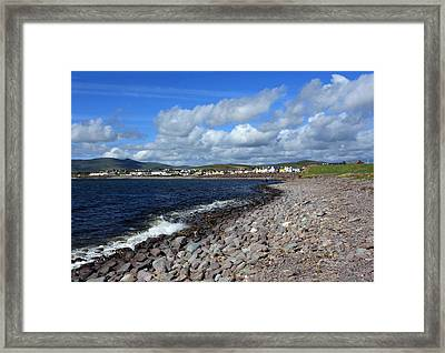 Village By The Sea - County Kerry - Ireland Framed Print by Aidan Moran