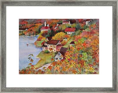 Village By The Sea Framed Print by Sherri Crabtree