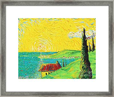 Village By The Sea Framed Print by Stefan Duncan
