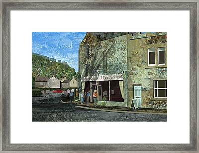 Village Cafe Framed Print by Kenneth North