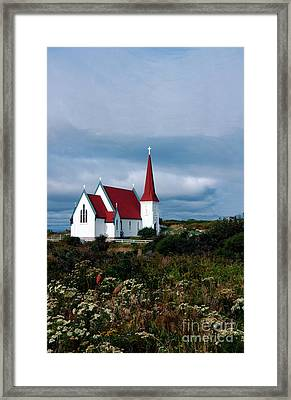 Village Church Framed Print by Kathleen Struckle