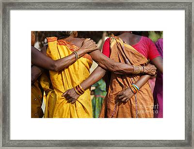 Village Dance In Orissa India Framed Print by Robert Preston