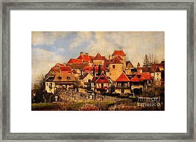 Village De Fleuris Framed Print by Lianne Schneider
