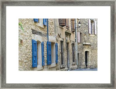 Village Doors And Windows Framed Print by Bob Phillips