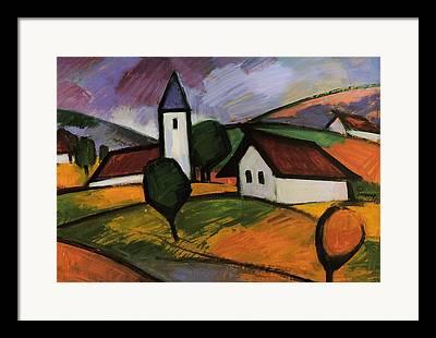 Rural Church Framed Prints