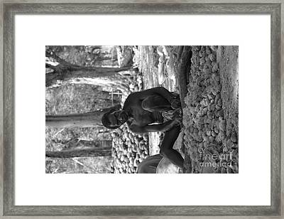 Village Farmer  Framed Print by Bobby Mandal