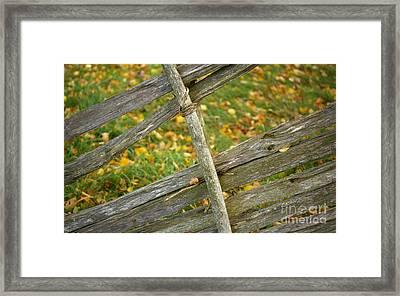 Village Fence Fragment Framed Print by Jolanta Meskauskiene