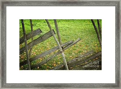 Village Fence Framed Print by Jolanta Meskauskiene