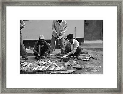 Village Fish Market 1 Framed Print by Bobby Mandal