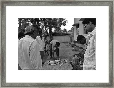 Village Fish Market Framed Print by Bobby Mandal