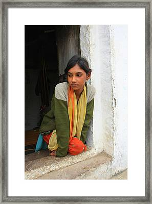 Village Girl India Framed Print by Amanda Stadther