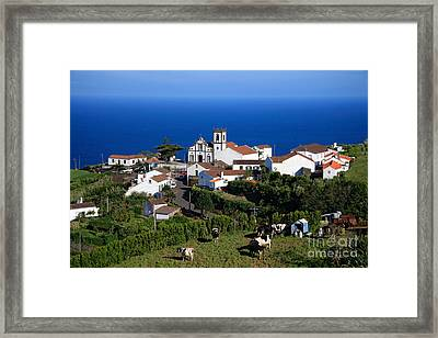 Village In Azores Islands Framed Print