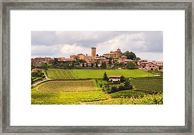 Village In French Countryside Framed Print