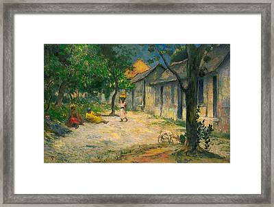 Village In Martinique Framed Print by Paul Gauguin