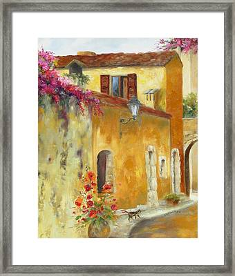 Village In Provence Framed Print