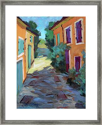 Village In Provence Framed Print by Diane McClary