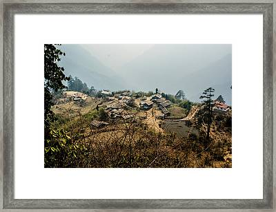 Village In Sikkim Framed Print by Helix Games Photography
