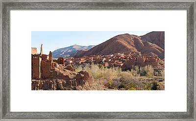 Village In The Dades Valley, Dades Framed Print
