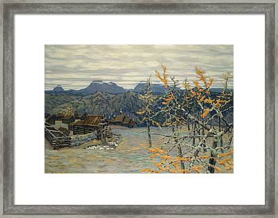 Village In The Ural Mountains Framed Print