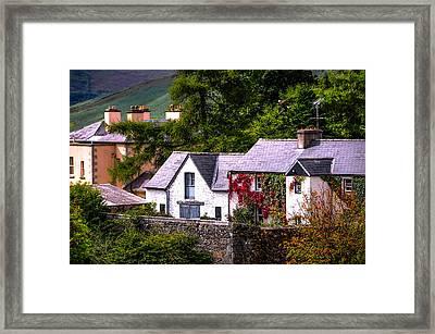 Village In The Wicklow. Ireland Framed Print