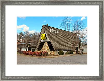 Village Inn Pizza Framed Print